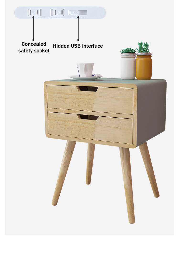 Smart Bedside Table: Smart Bedside Table With Wireless Charging
